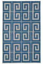 Payne Rizzy Home Vicky Collection Greek Key 2-Foot x 3-Foot Rug in Blue