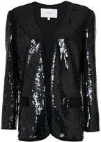 Carolina Herrera sequinned boxy blazer - women - Silk/Sequin - 0