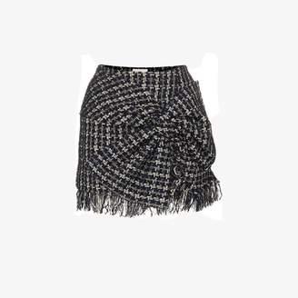 Faith Connexion bow detail tweed mini skirt