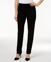 Charter Club Flocked Dot Print Slim Leg Pants, Only at Macy's