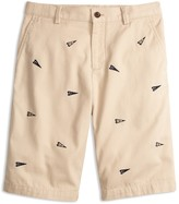 Brooks Brothers Boys' Varsity Pennant Chino Shorts