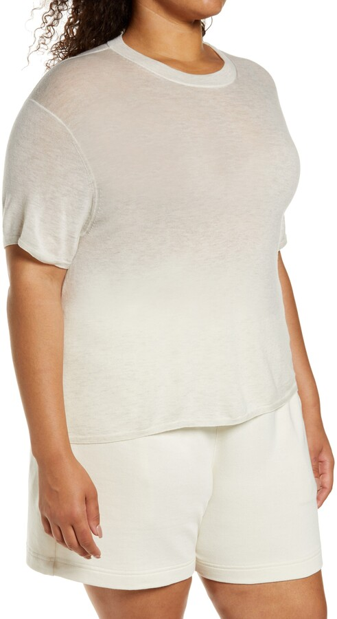 Thumbnail for your product : Vince Easy Short Sleeve Wool & Cashmere Blend Sweater