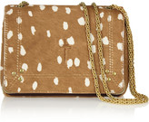 Jerome Dreyfuss Eliot printed calf hair and leather shoulder bag
