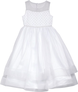 Iris & Ivy Beaded Illusion Tulle First Communion Dress