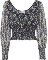 Thumbnail for your product : Rixo Cheryl floral silk blouse