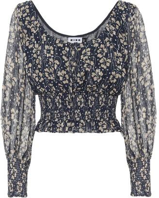Rixo Cheryl floral silk blouse