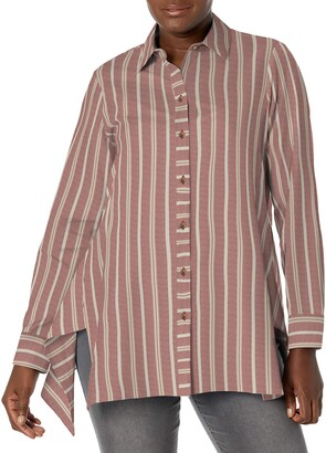 Foxcroft Women's Edison Brushed Multi Stripe Tunic