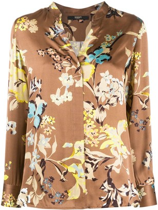 Seventy Long Sleeve Floral Print Shirt