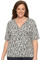 Dana Buchman Plus Size V-Neck Wrap Top