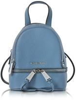 Michael Kors Rhea Zip X-Small Denim Leather Messenger Backpack