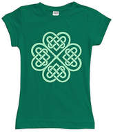 Urban Smalls Kelly Green Celtic Clover Tee - Toddler & Girls