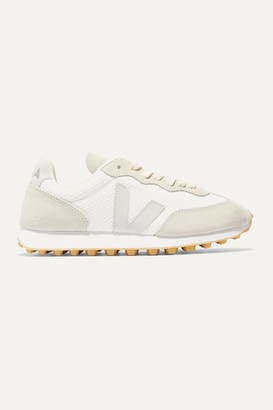 Veja Net Sustain Rio Branco Leather-trimmed Mesh And Suede Sneakers - White