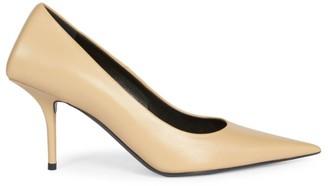 Balenciaga Square Knife Point-Toe Stiletto Leather Pumps