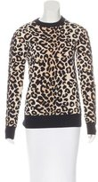 Celine Leopard -Patterned Long Sleeve Sweater