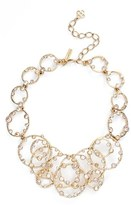 Oscar de la Renta Women's 'Circular Crystal' Frontal Necklace