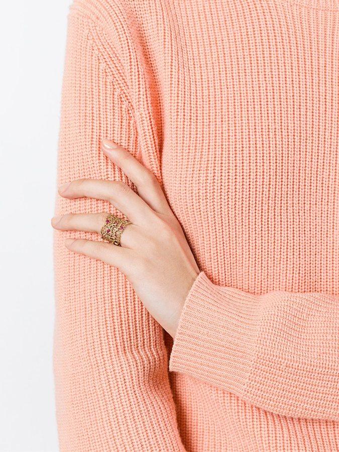 Aurelie Bidermann 'Vintage Lace' ruby ring