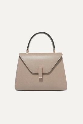 Valextra Iside Mini Textured-leather Tote