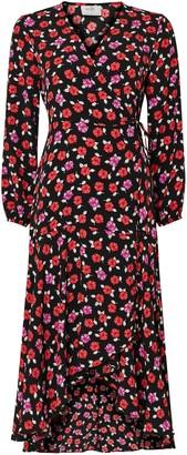 Wallis PETITE Rose Ruffle Midi Dress