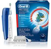 Oral-B Pro 5000 SmartSeries Power Rechargeable Electric Toothbrush with tooth Connectivity and Travel Case, White, Powered by Braun