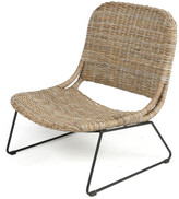 Kojuana Lounge Rattan Chair with Metal Legs