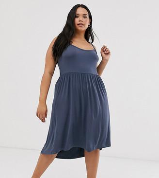Junarose lace back swing dress-Blue