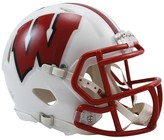 NCAA Wisconsin Badgers Riddell Speed Mini Helmet - White