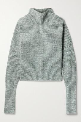 Petar Petrov Nerys Ribbed Melange Cashmere Turtleneck Sweater - Ivory