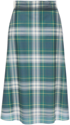 Burberry Paneled Checked Pvc Skirt