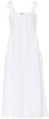Juliet Dunn Embroidered cotton midi dress