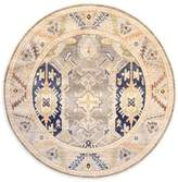 F.J. Kashanian Kasmir Hand-Knotted Wool Round Rug