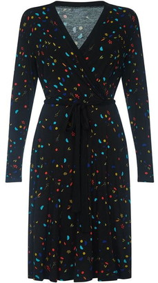 Yumi Abstract Printed Jersey Wrap Dress