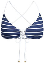 Polo Ralph Lauren Striped Lace-Up Bikini Top