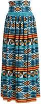 Stella Jean Ikat-print high-rise maxi skirt