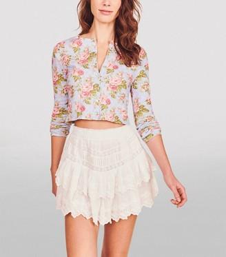 LoveShackFancy Emilia Tiered Mini Skirt