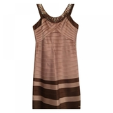 BCBGMAXAZRIA Beige Polyester Dress