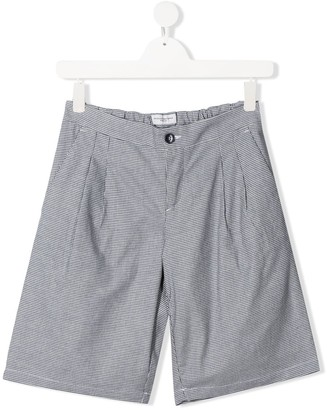 Paolo Pecora Kids TEEN houndstooth tailored shorts