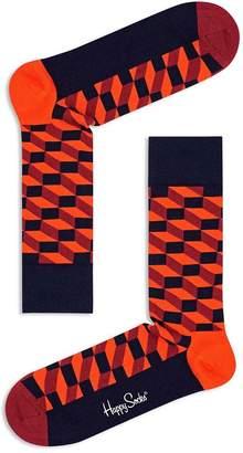 Happy Socks Filled Optic Crew Socks