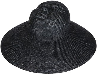 Flapper Black Straw Hat