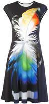 Mary Katrantzou feather print midi dress