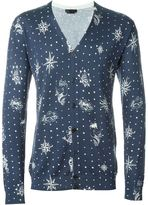 Alexander McQueen tattoo intarsia cardigan - men - Silk/Cotton - S