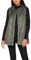 New Look Women's Ripple Fur Gilet