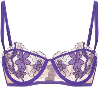 Fleur Du Mal Embroidered Lace Bra