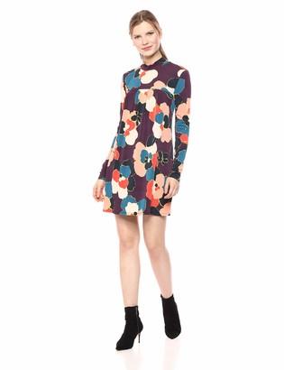 BCBGeneration Women's Day Long Sleeve Box Pleat A LINE Dress