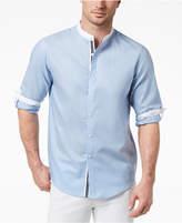 INC International Concepts I.n.c. Men's Band-Collar Shirt, Created for Macy's