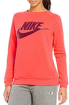 Nike Modern French Terry Crew Long Sleeve Pullover