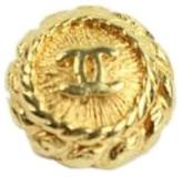 Chanel CC Logo Gold Tone Charm Button