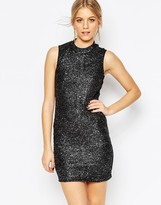 Vero Moda Sequin Body-Conscious Highneck Dress