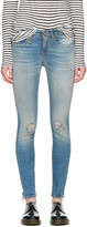 R 13 Blue Alison Skinny Crop Jeans