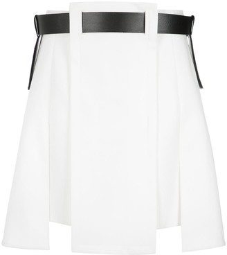 Gloria Coelho Asymmetric Belted Skirt