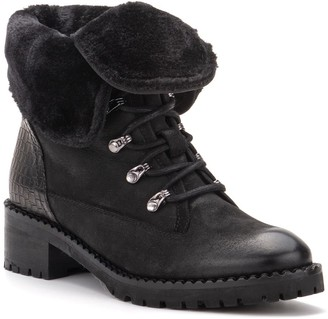 Vintage Foundry Milan Faux Fur Lined Leather Lace-Up Boot
